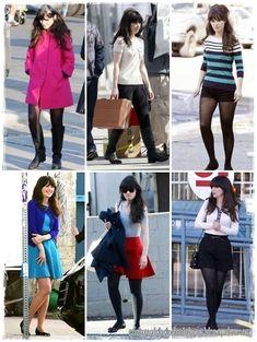 Jessica Day - New Girl - Zooey Deschanel style Estilo Fashion, Fashion Moda, Girl Fashion, Fashion Outfits, New Girl Outfits, Cool Outfits, Estilo Blair Waldorf, Jess New Girl, Zooey Deschanel Style