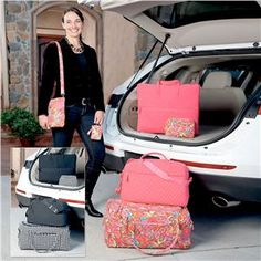 Fuchsia and Houndstooth Travel Bags from Lillian Vernon