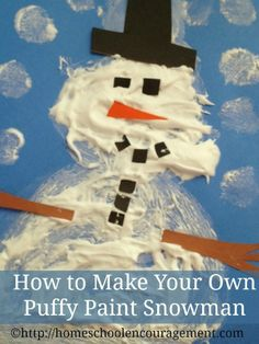 A fun wintertime activity for your kids, great for sensory fun too! From Amy at www.HomeschoolEncouragement.com