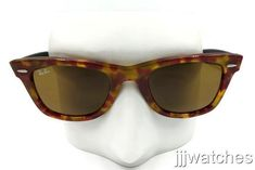c382229e2f New Ray Ban Original Wayfarer Fleck Tortoise Brown Sunglasses RB2140 1161 50-22  (eBay Link)
