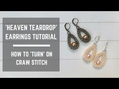 Heaven Teardrop earrings tutorial, How to make a Turn on CRAW stitch. In this tutorial you are going to learn how to make a pair of Heaven Teardrop earrings and for that, you will need below materials: 110 Toho seed beads grams (I used Toho code Ruby Earrings, Unique Earrings, Bridal Earrings, Bead Earrings, Teardrop Earrings, Beautiful Earrings, Earrings Online, Bead Jewellery, Seed Bead Jewelry