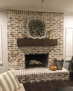 "92 Likes, 4 Comments - Irwin Construction (@irwin.construction) on Instagram: ""All done with this German Smear fireplace! Didn't our client decorate it beautifully for fall?"""