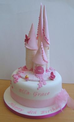 Image detail for -Pink fairy castle. (Birthday Cakes)