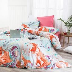 Marbled Quilt Cover Set | Quilt Covers and Accessories | Bedroom | Categories | Pillow Talk