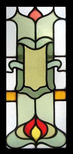 EDWARDIAN CHARM Stained Glass window. circa 1908