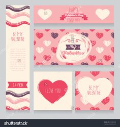 Greeting Cards For Valentine'S Day, Invitation For Valentine'S Day Party, Cute Hand Drawn Design, Vector Illustration - 247486498 : Shutterstock