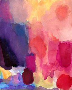 Soveryhappyart, Etsy. Abstract watercolor, $30