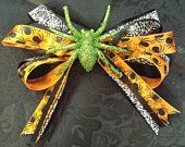 Spider Queen Halloween Hair Bow for sale on etsy.