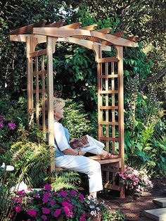 photo of arbor gate New England Arbor Fairfield Deluxe White