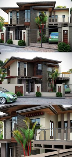 Two Storey House Inspiration Complete with Interior Designs - House And Decors Two Storey House Plans, One Storey House, Simple House Design, House Front Design, Modern Bungalow House, Modern House Plans, Modern Minimalist House, Modern Home Interior Design, Storey Homes