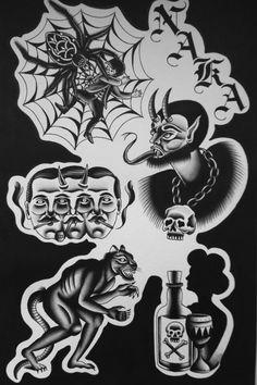 Art work. Traditional Tattoo Design, Traditional Ink, Traditional Tattoo Flash, Hand Tattoos, Cool Tattoos, Occult Tattoo, Chicano Tattoos, Biblical Art, Dark Tattoo