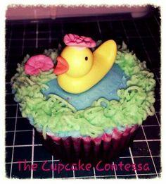 Duckling cupcake