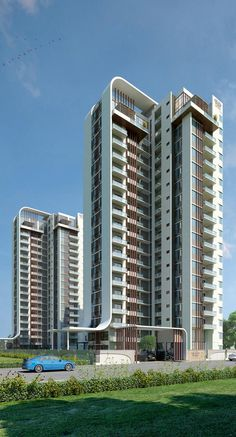 Grand West Apartments sale off Yeshwanthpur Bangalore Located at the heart of West Bangalore, the living space at Grand West Plans Architecture, Commercial Architecture, Amazing Architecture, Architecture Design, Building Elevation, Building Facade, Building Exterior, Residential Building Design, Residential Architecture