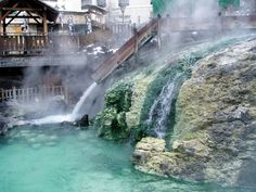 Kusatsu Onsen is a hot spring resort located in Gunma Prefecture, Japan. It is known as one of the three greatest hot spring in Japan and has a long history. Japanese Hot Springs, Gunma, Spring Resort, Japan Travel, Japan Trip, Niagara Falls, Places Ive Been, Waterfall, Nature