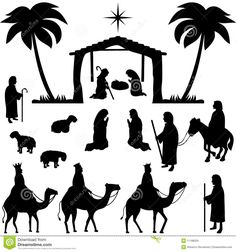 Nativity Silhouettes Collection - Download From Over 27 Million High Quality Stock Photos, Images, Vectors. Sign up for FREE today. Image: 11188329