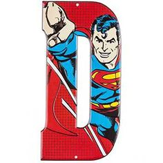 Superhero Marvel  DC Comics Embossed Tin Letter Sign D Superman -- Want additional info? Click on the image.