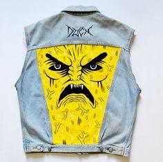 Custom Jacket (painted jeans) / BDX - LAX : Art Project (Bordeaux)