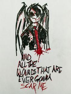 I put some lyrics on it