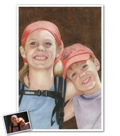 Watercolor Portrait of your favorite little kids...because their cute faces were meant for art. :)