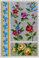 Gallery.ru / Фото #86 - знайдене - 417lilu Blackwork, Home Decor, Needlepoint, Flowers, Crossstitch, Little Cottages, Dots, Cross Stitch, Homemade Home Decor