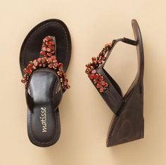 Sundance Catalog: Farah Sandals - these are the brown; prefer the tan w/the turq. the most