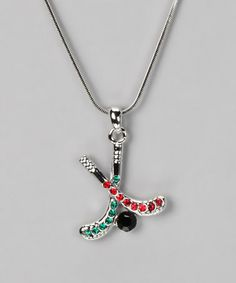 Take a look at this Red & Green Pendant Necklace by Violet Victoria on #zulily today!