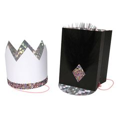 Glitter and Feather Party Hats