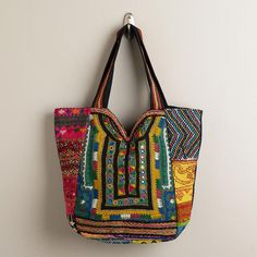 One of my favorite discoveries at WorldMarket.com: Sari Patchwork Bag