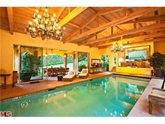 This rental in Bel Air is truly a rare find. Look how magnificent this indoor pool is!