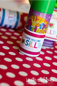 Love the silly string valentines idea! Free printable. THREE new Valentine's Day printable collections