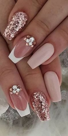 70 Trendy Designs Acrylic Nails To Try Once - French Manicure Nail Design Ideas . - 70 Trendy Designs Acrylic Nails To Try Once – French Manicure Nail Design Ideas … 70 Trendy Designs Acrylic Nails To Try Once – French Manicure Nail Design Ideas French Manicure Nail Designs, Long Nail Designs, Acrylic Nail Designs, Nail Art Designs, Nails Design, French Manicures, Nails French Design, Sparkly Nail Designs, French Toe Nails