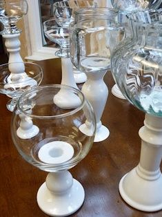 Candy buffet - Glue glass jar onto a candlestick from the ... | Decor