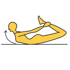 ■これでOK!  便秘解消!代謝アップ!  ※画像参照  1.床にうつ伏せに寝ます。  2.背中側、両手で両足首をつかみます。  3.顔と上半身を限界まで引き上げ、  弓なりにカラダを反り、  ゆっくりと元に戻ります。  ※画像参照  これを毎日10〜20回行いましょう。  腸が刺激されるこのエクササイズを 行うことで便通がよくなり、 便秘も解消!