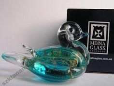 Kaczka figurka szklana rękodzieło Mdina Glass -20%