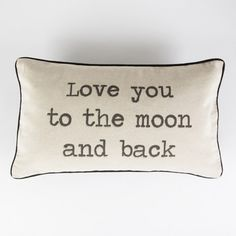 coussin Love you to the moon