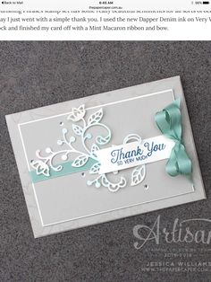 Diy wedding thank you cards with stampin up watercolor thank you thank you card design do it yourself also known as diy is the method of building modifying or repairing something without the aid of experts or solutioingenieria Gallery