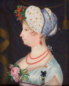 1806 María Isabel de Borbón y Borbón-Parma, infanta de España y reina de las Dos Sicilias by Jean-Jacques Guillaume Bauzil Koc (Museo Nacional del Prado - Madrid Spain) | Grand Ladies | gogm