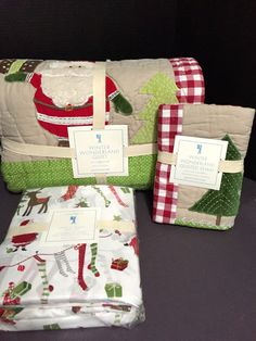 PoTTerY BaRN KiDs Winter Wonderland TWIN QUILT SHAM Christmas Santa Friend SHEET #PotteryBarn