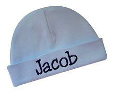 Embroidered Baby Boy Hat Personalized Keepsake Custom Inf... https://www.amazon.com/dp/B01CT607IW/ref=cm_sw_r_pi_dp_x_R2O9ybYHTXZKW