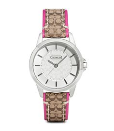 Product: COACH KHAKI PUNCH CLASSIC SIGNATURE STRAP WATCH  Love this!!