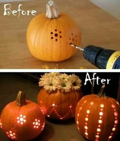Decorate pumpkins a new way