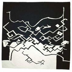"""Monique Memy / absolutetapestry.com  """"Pandoras eske"""" - 1994 (Pandoras Box) 175x175 cm"""