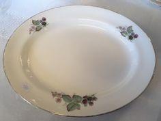 FINN – EGERSUND FAYANCE bjørnebær deler Bap, Plates, Tableware, Licence Plates, Dishes, Dinnerware, Plate, Dish