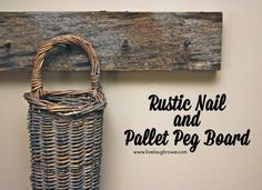 Super Easy Pallet Project: Rustic Nail Pallet Peg Board