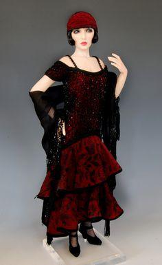 "clara — Diane Keeler - this doll looks like Essie Davis of the PBS series ""Miss Fisher Murder Mysteries"""