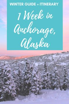 Hiking tips, packing list, where to find the best views and pizza: Plan a winter adventure with this detailed itinerary for visiting Anchorage, Alaska.