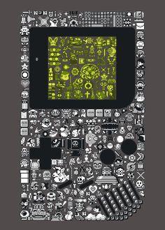 nintendo game boy this pictures amazing Retro Videos, Retro Video Games, Video Game Art, Game Boy, Arcade, Mundo Dos Games, 8 Bit, Nintendo Games, Oeuvre D'art