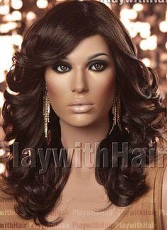 SEXY//BROWN Farrah / Full Wig 6 by GoddessTreasureLand on Etsy, $89.99