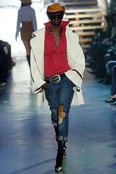 Dsquared2 Fall 2004 Ready-to-Wear Fashion Show - Alek Wek