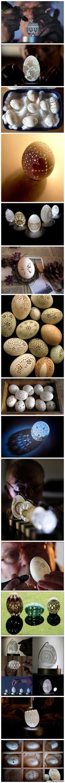 egg art - amazing!